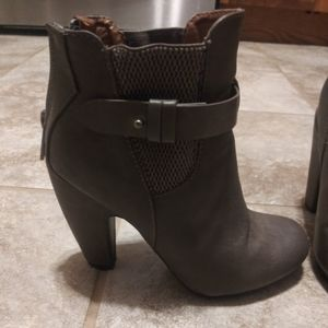 Grey Dollhouse Ankle Booties size 6.5